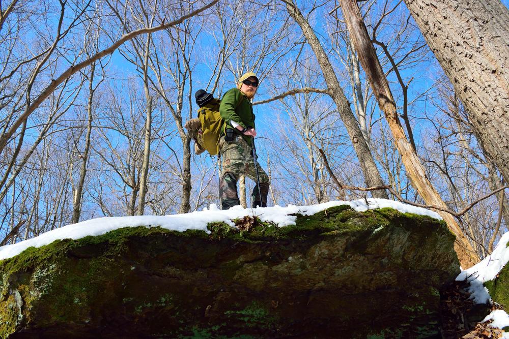 Man hiking in the Blue Ridge Mountain