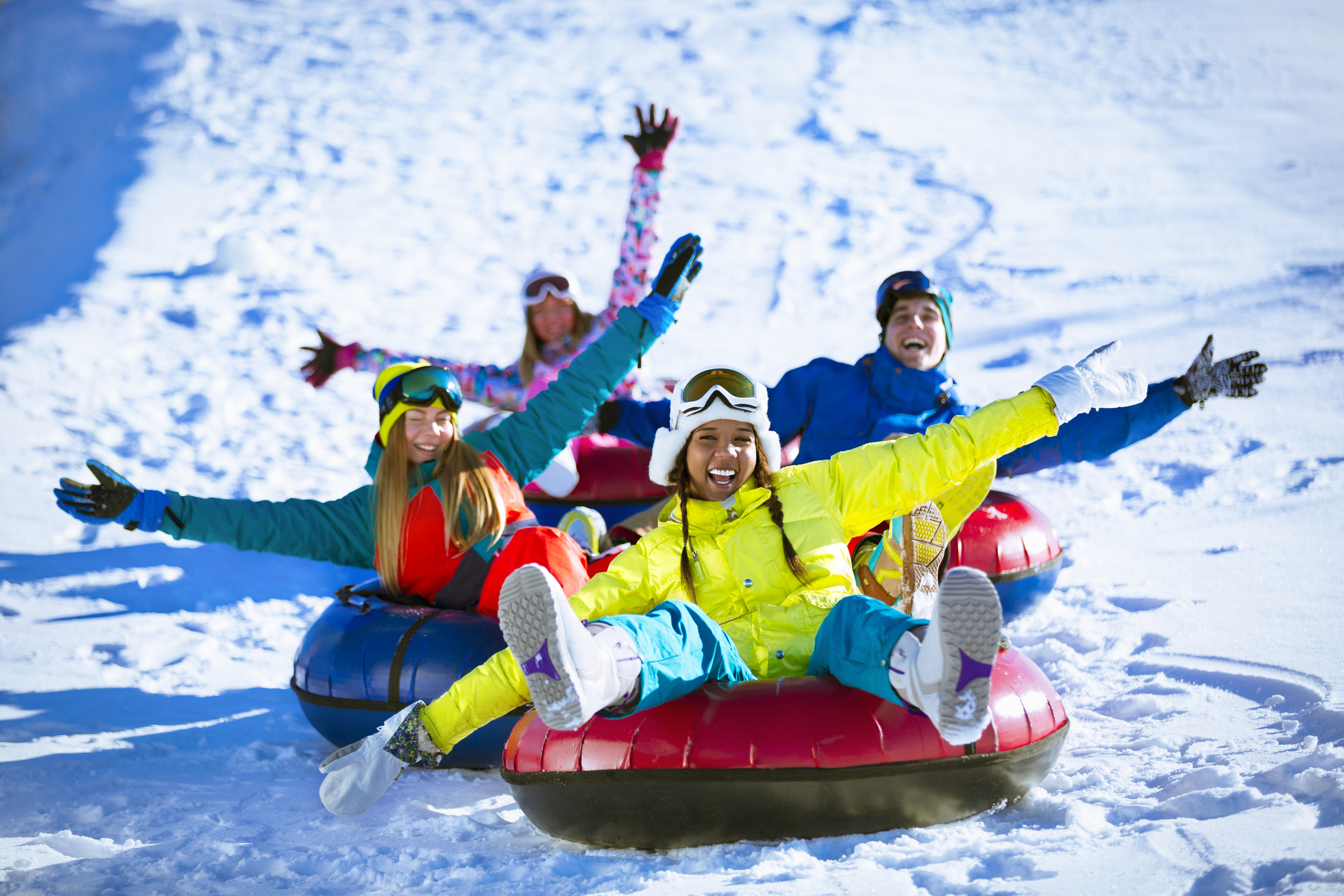 Snow tubing at Stay Blue Ridge